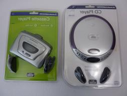 2 NEW - Durabrand Portable CD player CD-566 & Cassette Playe
