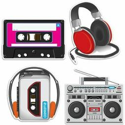 Beistle 54667 Cassette Player Cutouts Pack Of 12