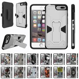 For Apple iPhone SE 2 Case Holster Belt Clip Dual Rugged Arm