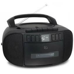 GPX BCA209B CD, Cassette, AM/FM Radio Boombox with Aux-in