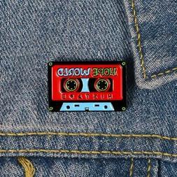 """PureArte Enamel Pins Cassette Tape""""Hope World"""" Old School An"""