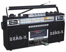 QFX J-22U Retro Collection AM/FM/SW1/SW2 4-Band Radio +Casse