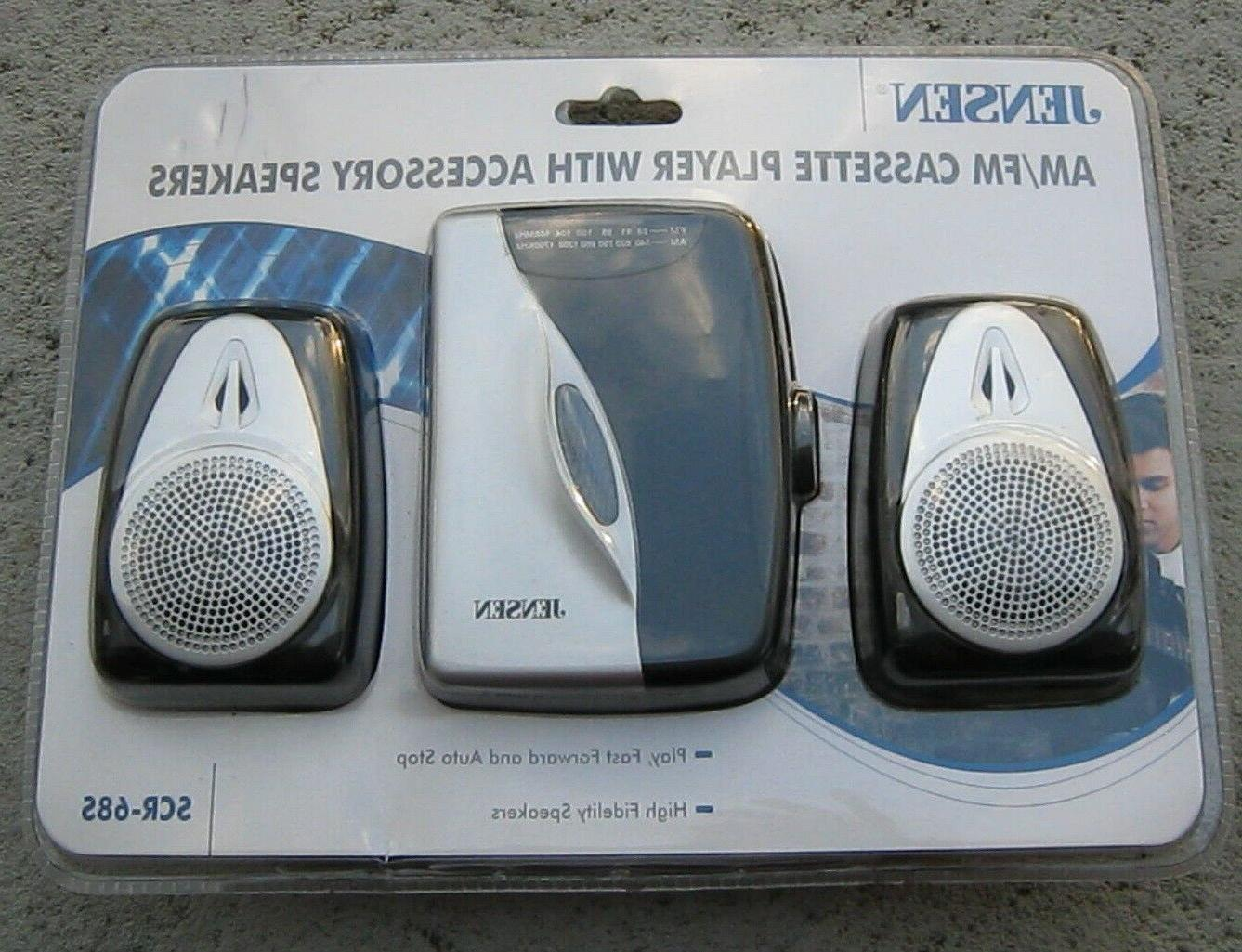 am fm cassette player with accessory speakers