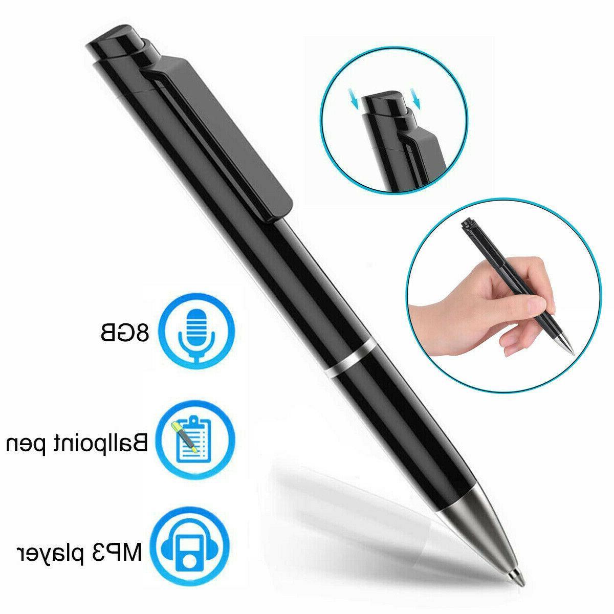digital voice recorders dictaphones 8gb spy pen