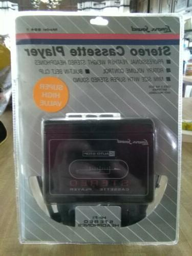 lenoxx sound stereo cassette player with headphones