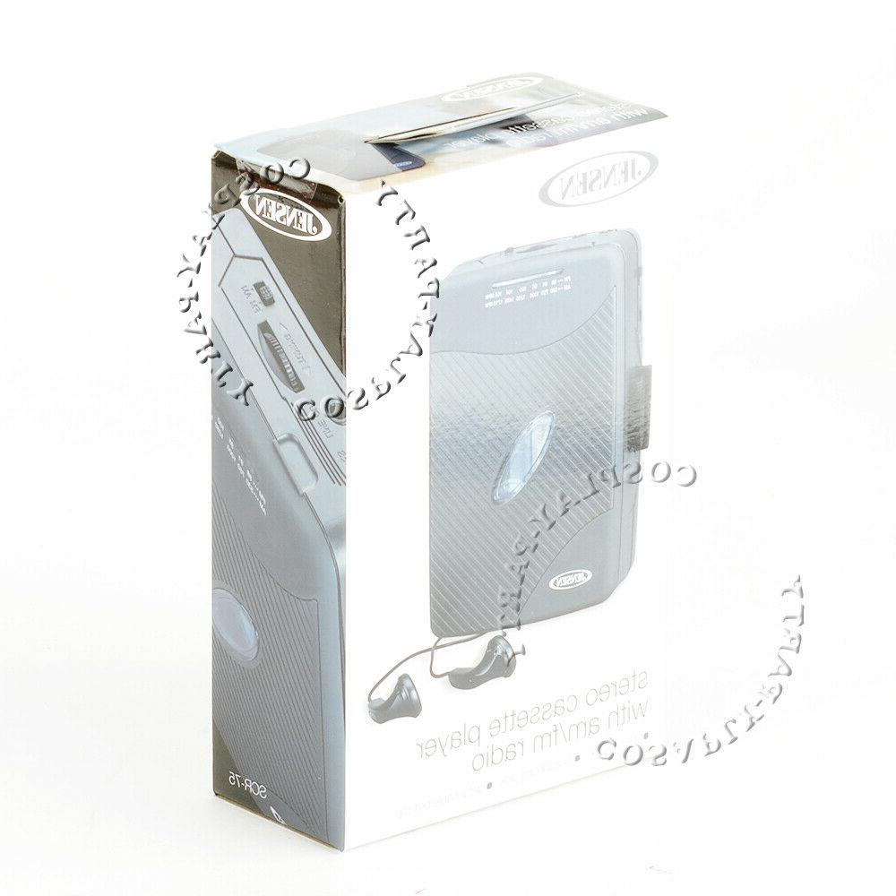 Jensen Portable Stereo Cassette Player Radio