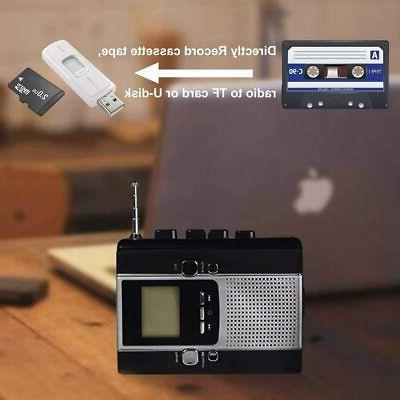 Portable Radio Cassette Player Recorder, Cassette Tape Mp3