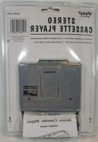 Sealed 1997 Beat Stereo Cassette 8940 New w/ Headphones