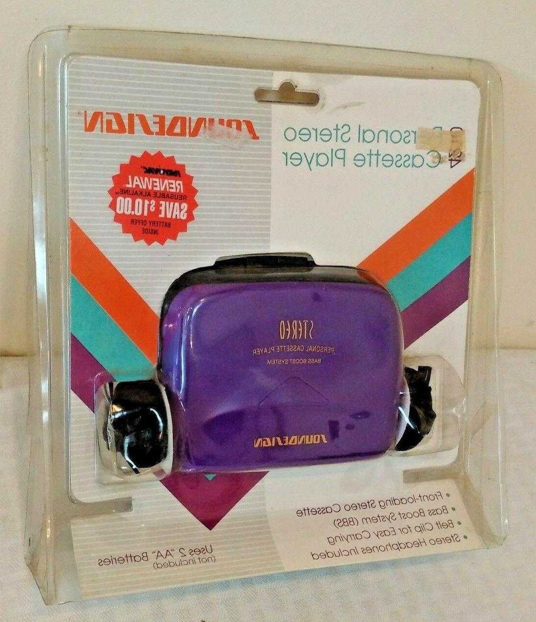 vintage 4201 personal cassette player headphones purple