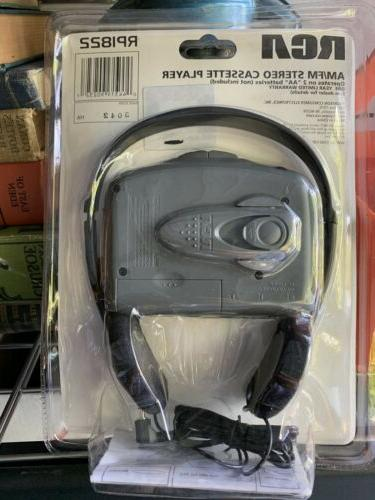Vintage 80s AM/FM Portable Player Headphones New