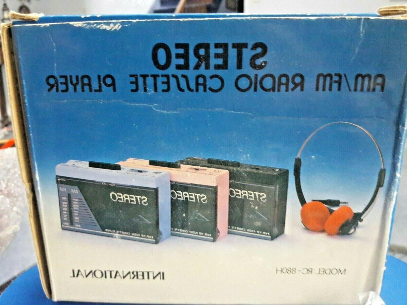 vintage stereo am fm radio cassette player