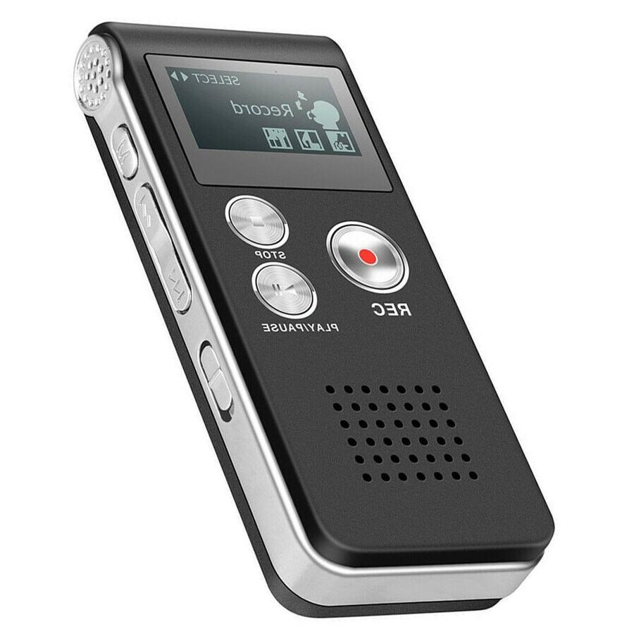 digital voice recorder dictaphone audio sound recorder