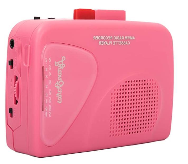 walkman cassette player portable players pink