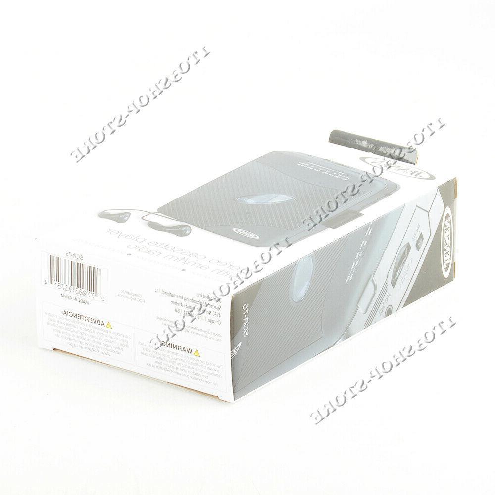 Jensen Walkman Portable Design Cassette w AM Radio NEW
