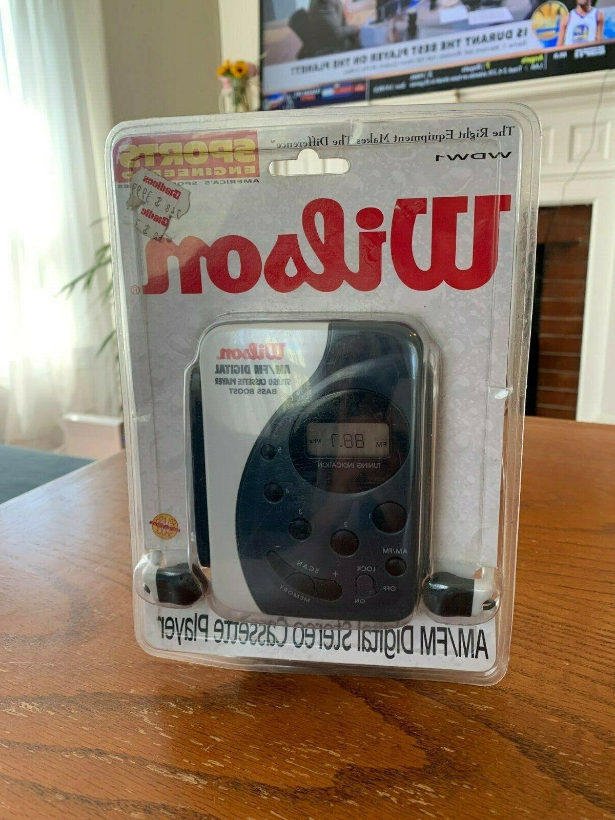 wdw1 am fm digital stereo cassette player