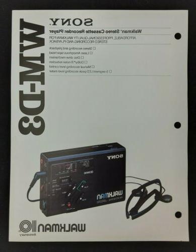 wm d3 walkman stereo cassette recorder player