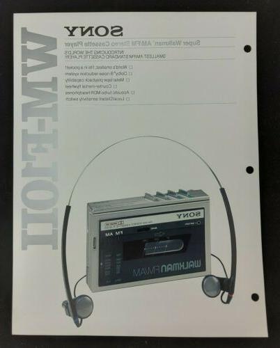 wm f10ii super walkman stereo cassette player