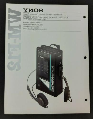 wm f12 walkman am fm stereo cassette