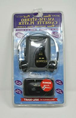 LENOXX SOUND  AM FM Stereo Cassette Player Headphones With 3