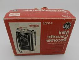 General Electric GE 3-5303  Mini Standard Cassette Tape Reco