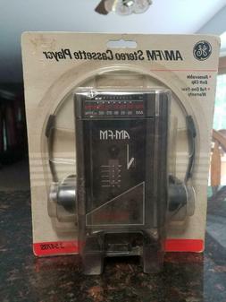 NEW - Vintage - GE AM/FM Stereo Cassette Player - Model 3-54