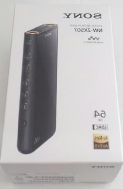 NEW SONY Walkman 64GB ZX Series NW-ZX507: Black NW-ZX507 B f