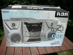 NOS New! ~RCA model RS2603 Stereo 5 Disc CD Player Dual Cass