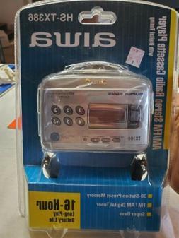 NOS NIB Aiwa Portable Cassette Player - Silver  Rare collect