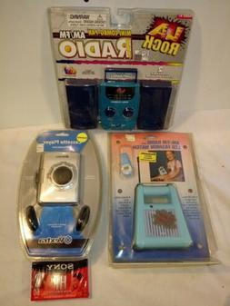 NOS Vintage Portable Cassette Player & AM/FM Radios NPS Lot