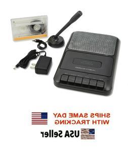 ONN Portable Cassette Recorder Player Built In Speaker Exter