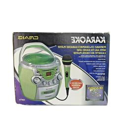 Craig Portable CD+Graphics Karaoke Player W/AM,FM Radio & Ca