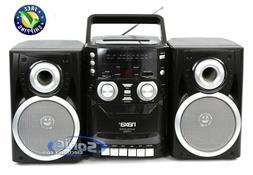 NAXA PORTABLE CD PLAYER AM/FM RADIO CASSETTE DETACHABLE SPEA