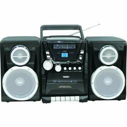 Naxa Portable CD Player with AM/FM Stereo Radio Cassette Pla