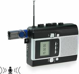Portable Radio Cassette Player Recorder, Cassette Tape to Mp