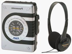 Panasonic RQV75 Headphone Stereo Radio Cassette with XBS