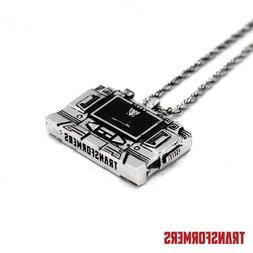 Transformers Soundwave Cassette Player Silver Pendant Neckla