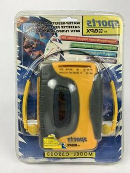 GPX Sports C32O2D Portable Personal Cassette Player AM/FM NI