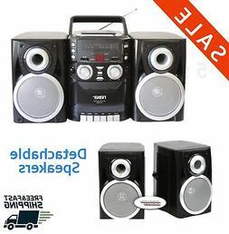 Stereo CD player Radio AM/FM Portable Cassette shelf Tape Re