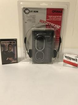 New Sanyo M-GR75 Portable Cassette Player Vintage AM-FM Radi