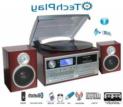 TechPlay ODC128BT 3-Speed Turntable with Cassette Player/Rec