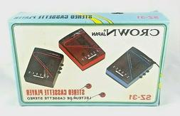 Vintage Crown Japan Stereo Cassette Player Model SZ-31 Red N