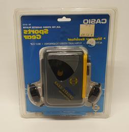 Vintage Casio Sports Gear AM/FM Radio Cassette Player Model