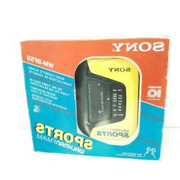 Vintage Sony Walkman Cassette Tape Player WM-AF59 In Box w/