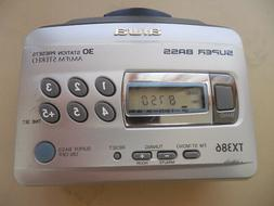 AIWA Walkman Cassette Player AM/FM Digital Radio 30 Station
