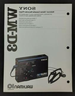 Sony WM-D3 Walkman Stereo Cassette Recorder Player Specs Fea