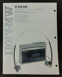 Sony WM-F10II Super Walkman Stereo Cassette Player Specs Fea