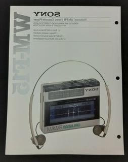 Sony WM-F15 Walkman AM/FM Stereo Cassette Player Specs Featu